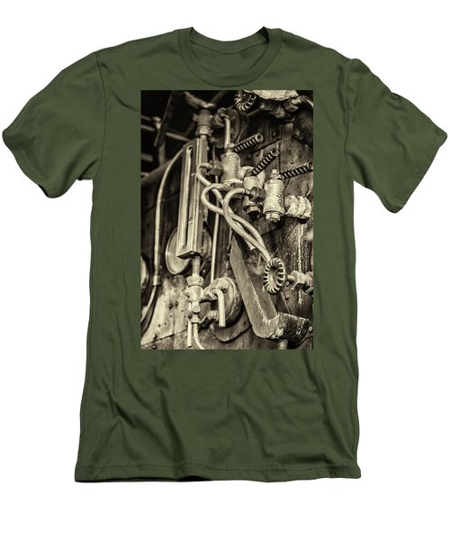 Men's T-Shirt (Athletic Fit) featuring the photograph Steam Train Series No 36 by Clare Bambers