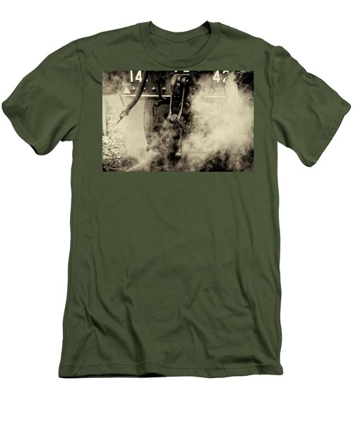 Men's T-Shirt (Athletic Fit) featuring the photograph Steam Train Series No 4 by Clare Bambers