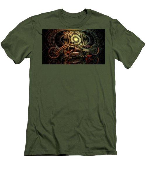 Steampunk Chopper Men's T-Shirt (Slim Fit) by Louis Ferreira