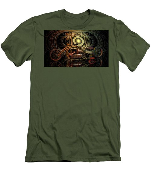 Steampunk Chopper Men's T-Shirt (Athletic Fit)