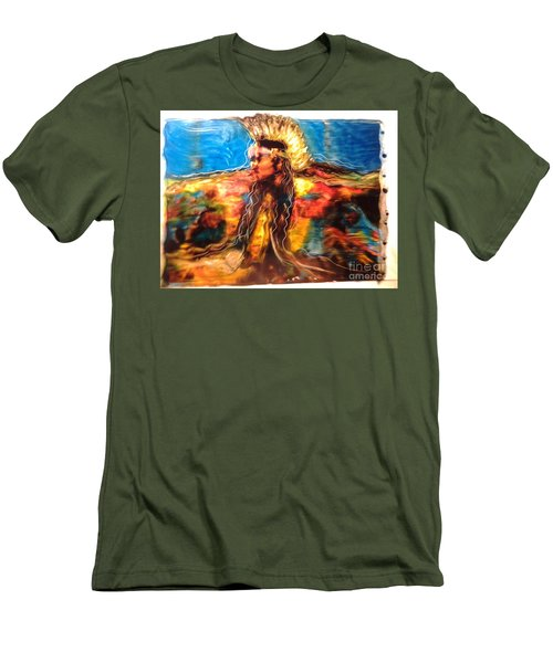 Stepping Into The Soul Men's T-Shirt (Slim Fit) by FeatherStone Studio Julie A Miller