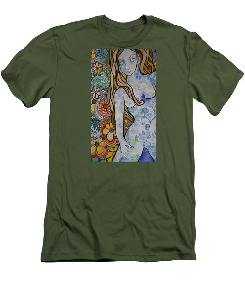 Stepping Out Men's T-Shirt (Slim Fit) by Claudia Cole Meek