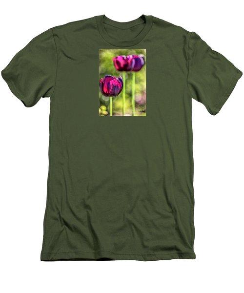 Stepping Out Men's T-Shirt (Slim Fit) by Jean OKeeffe Macro Abundance Art