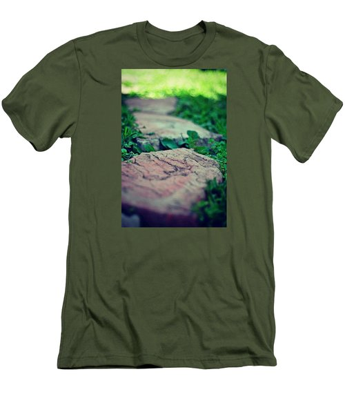 Stepping Stones Men's T-Shirt (Slim Fit) by Artists With Autism Inc