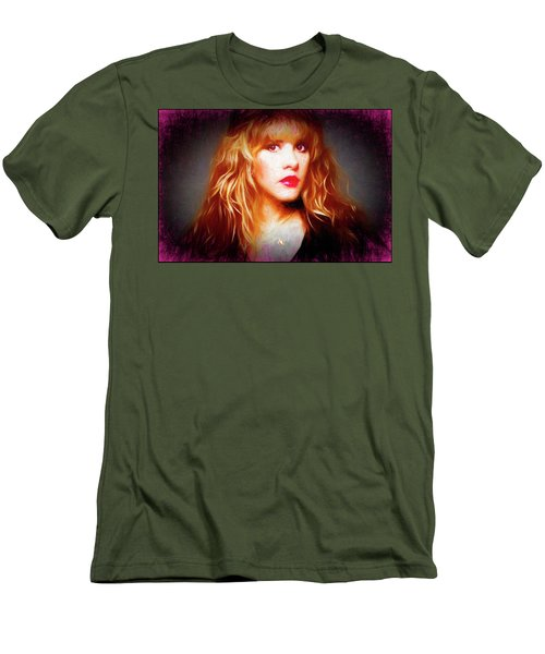 Stevie Nicks Drawing Men's T-Shirt (Athletic Fit)