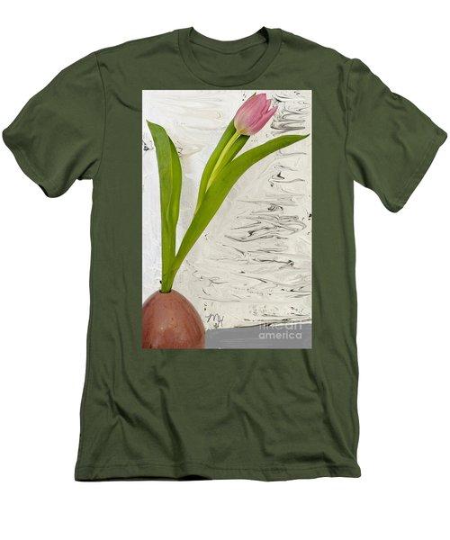Men's T-Shirt (Slim Fit) featuring the photograph Still Life Tulip by Marsha Heiken