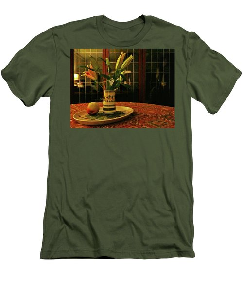 Men's T-Shirt (Athletic Fit) featuring the photograph Still Life With Apple by Anne Kotan
