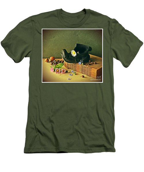 Still Life With Daises Men's T-Shirt (Athletic Fit)