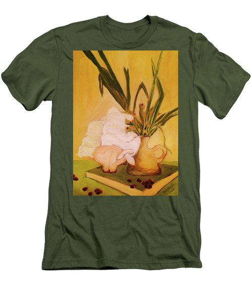 Still Life With Funny Sheep Men's T-Shirt (Slim Fit) by Manuela Constantin