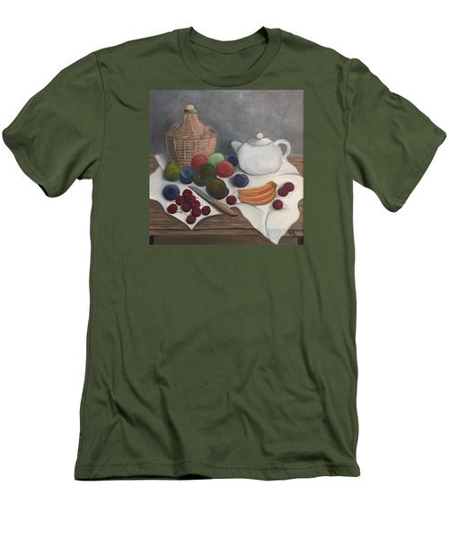 Still Life With Jug Wine And Fruits Men's T-Shirt (Athletic Fit)