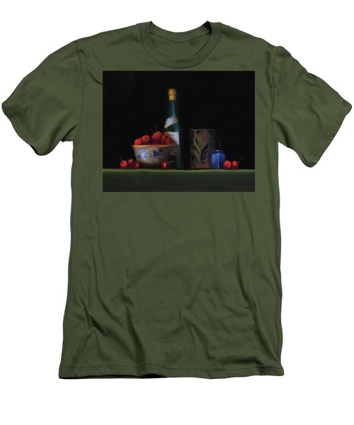 Men's T-Shirt (Slim Fit) featuring the painting Still Life With The Alsace Jug by Barry Williamson