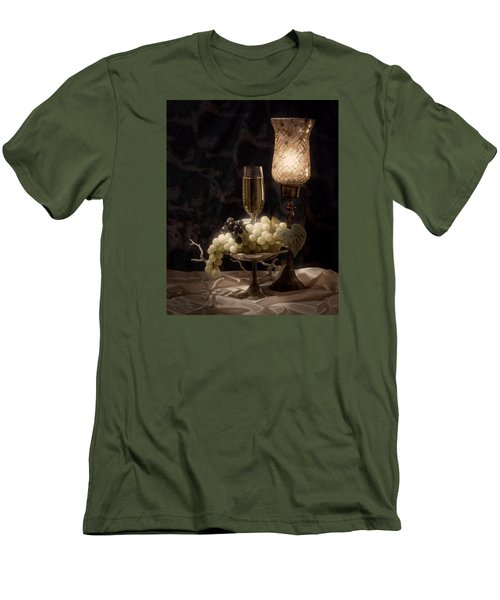Still Life With Wine And Grapes Men's T-Shirt (Athletic Fit)