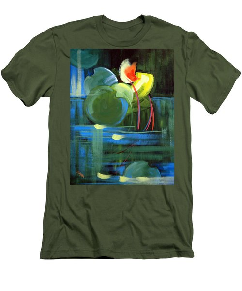 Men's T-Shirt (Slim Fit) featuring the painting Still Water by Suzanne McKee