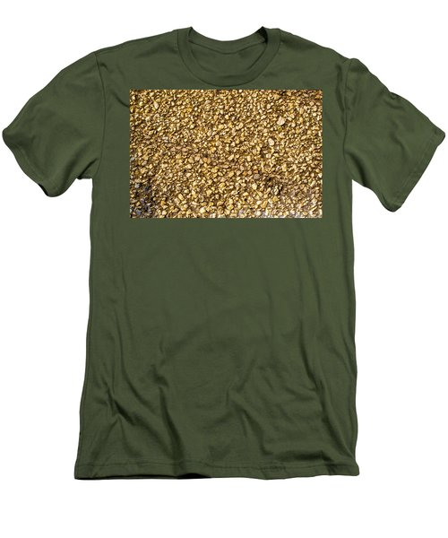 Men's T-Shirt (Slim Fit) featuring the photograph Stone Chip On A Wall by John Williams