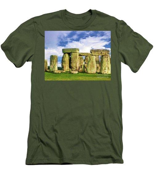 Stonehenge Men's T-Shirt (Slim Fit) by Judi Bagwell