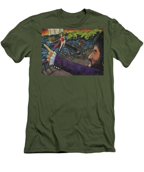 Stopping The Pirate Men's T-Shirt (Athletic Fit)