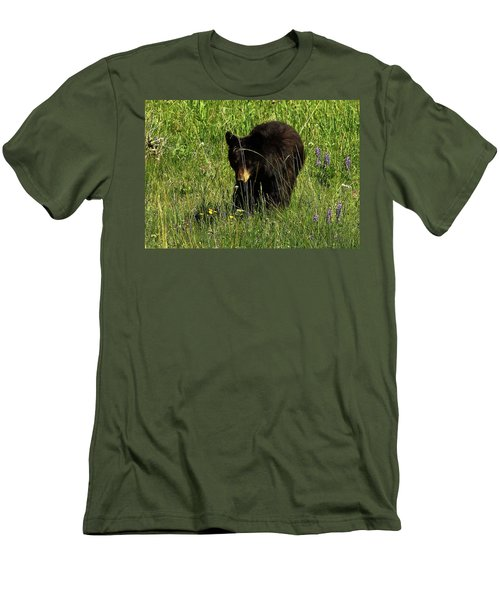 Stopping To Smell The Flowers Men's T-Shirt (Athletic Fit)