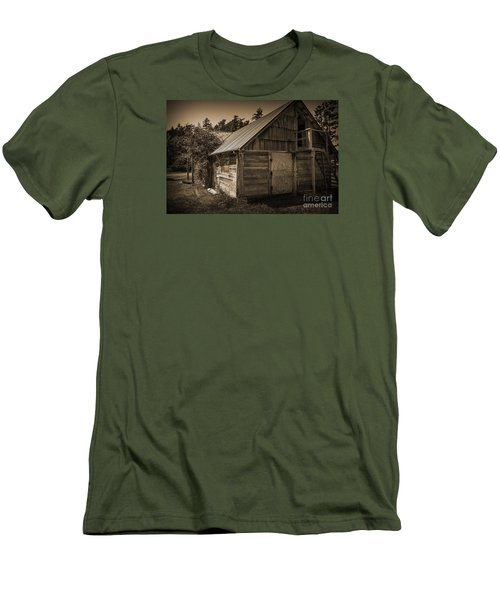 Storage Shed In Sepia Men's T-Shirt (Slim Fit) by Kirt Tisdale