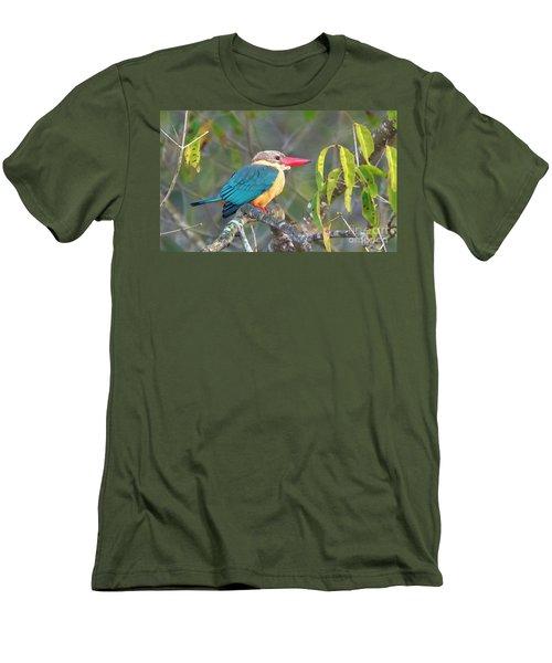 Stork-billed Kingfisher Men's T-Shirt (Slim Fit) by Pravine Chester