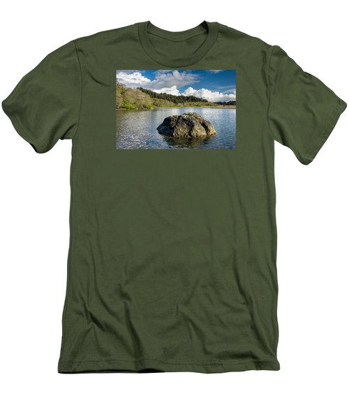 Storm Clearing On The Little River Men's T-Shirt (Slim Fit) by Greg Nyquist