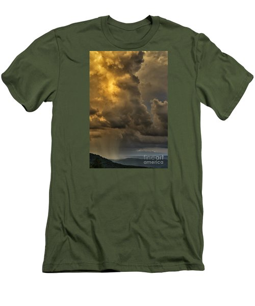 Storm Couds And Mountain Shower Men's T-Shirt (Slim Fit) by Thomas R Fletcher