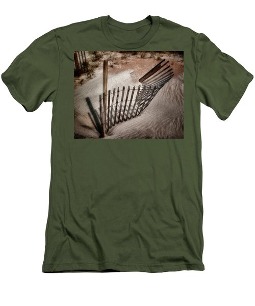 Storm Fence Series No. 2 Men's T-Shirt (Slim Fit) by John Pagliuca