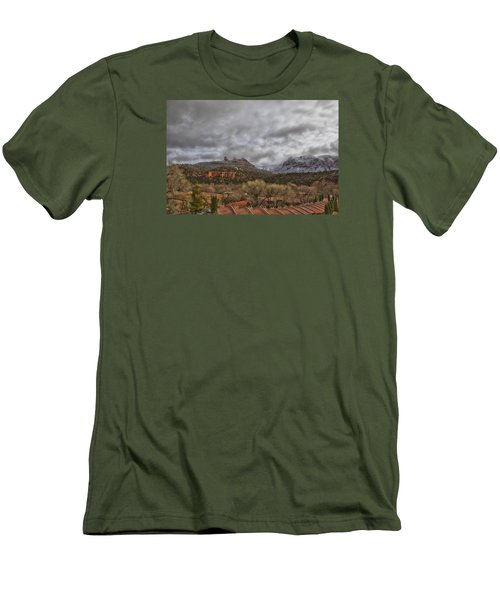 Men's T-Shirt (Slim Fit) featuring the photograph Storm Lifting by Tom Kelly