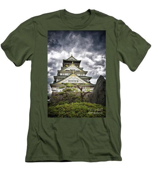 Storm Over Osaka Castle Men's T-Shirt (Athletic Fit)
