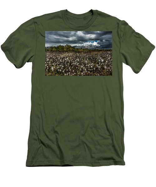 Stormy Cotton Field Men's T-Shirt (Athletic Fit)