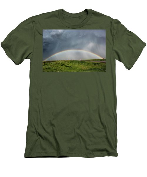 Men's T-Shirt (Slim Fit) featuring the photograph Stormy Rainbow by Ryan Crouse