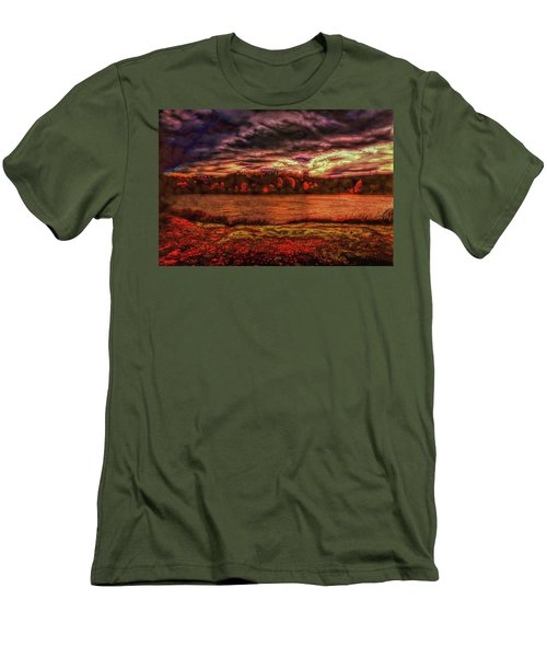 Men's T-Shirt (Athletic Fit) featuring the photograph Stormy Weather by John M Bailey