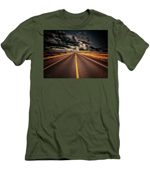 Straight Lines  ... Men's T-Shirt (Slim Fit) by Chuck Caramella