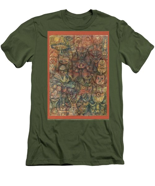 Strange Garden Men's T-Shirt (Slim Fit) by Paul Klee