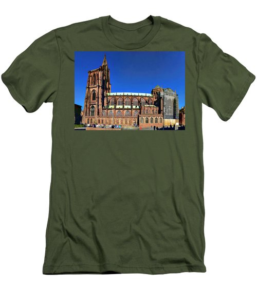 Men's T-Shirt (Slim Fit) featuring the photograph Strasbourg Catheral by Alan Toepfer