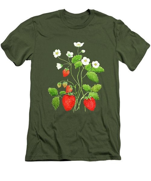 Strawberry  Men's T-Shirt (Slim Fit)