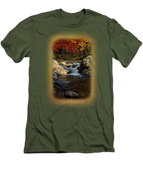 Stream In Autumn No.17 Men's T-Shirt (Slim Fit) by Mark Myhaver