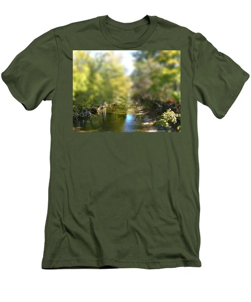 Stream Reflections Men's T-Shirt (Slim Fit) by EricaMaxine  Price