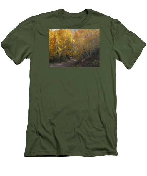 Streaming Light Paiute Trail Fremont Utah Men's T-Shirt (Slim Fit) by Deborah Moen