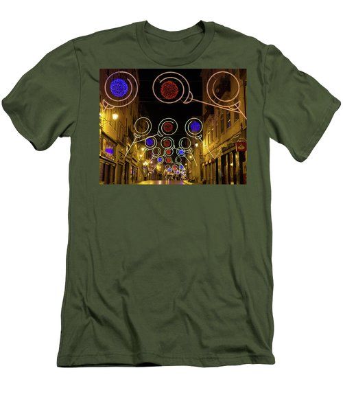 Street In Coimbra Men's T-Shirt (Slim Fit) by Patricia Schaefer