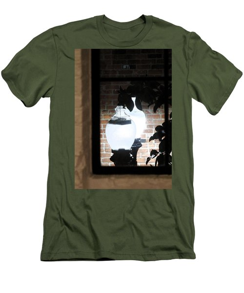 Men's T-Shirt (Slim Fit) featuring the photograph Street Light Through Window by Viktor Savchenko