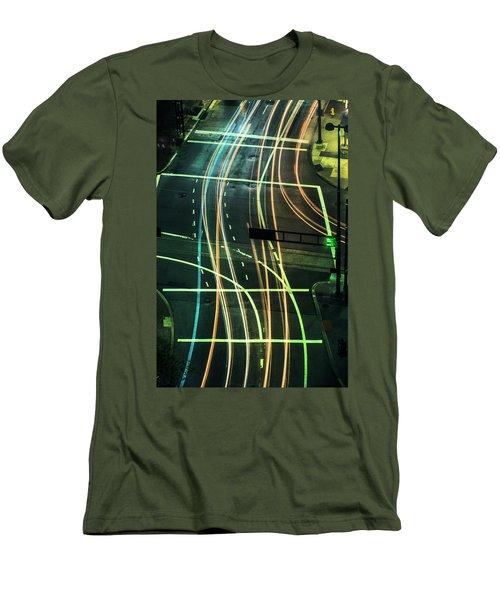 Street Lights Men's T-Shirt (Slim Fit) by Scott Meyer