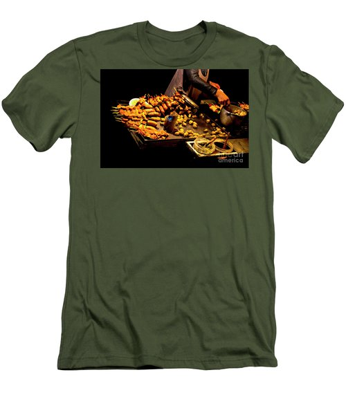 Men's T-Shirt (Slim Fit) featuring the photograph Street Meat by Al Bourassa