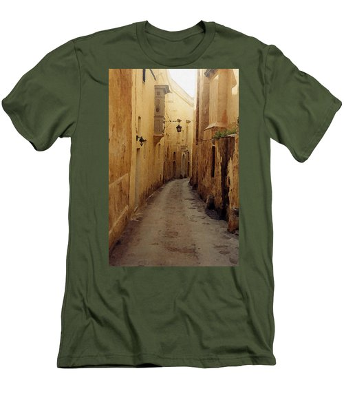 Men's T-Shirt (Slim Fit) featuring the photograph Streets Of Malta by Debbie Karnes
