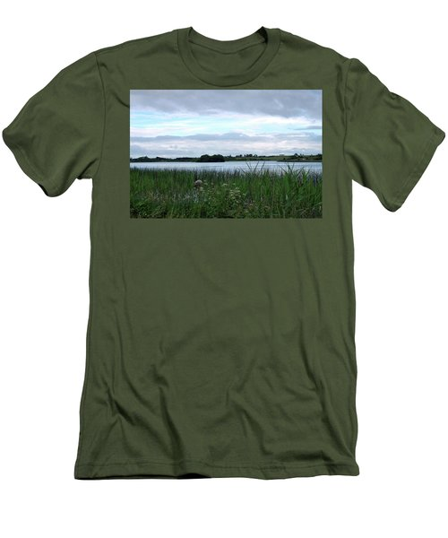 Men's T-Shirt (Slim Fit) featuring the photograph Strolling By The Lake by Terence Davis