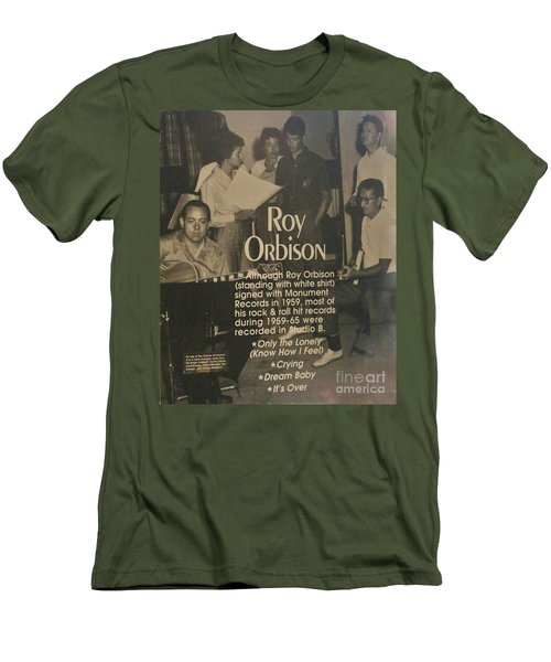Studio B Roy Orbison  Men's T-Shirt (Slim Fit) by Chuck Kuhn