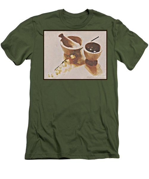 Men's T-Shirt (Slim Fit) featuring the digital art Study In Brown by Alexis Rotella