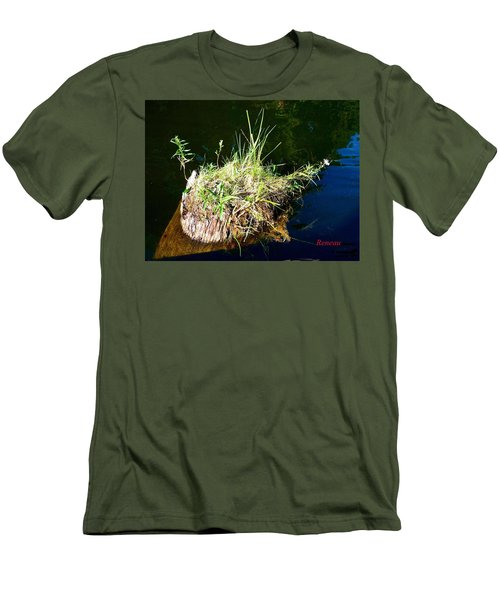 Men's T-Shirt (Slim Fit) featuring the photograph Stump Art 11 by Sadie Reneau