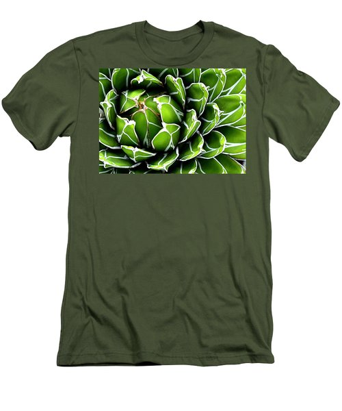 Men's T-Shirt (Slim Fit) featuring the photograph Succulent In Color by Ranjini Kandasamy