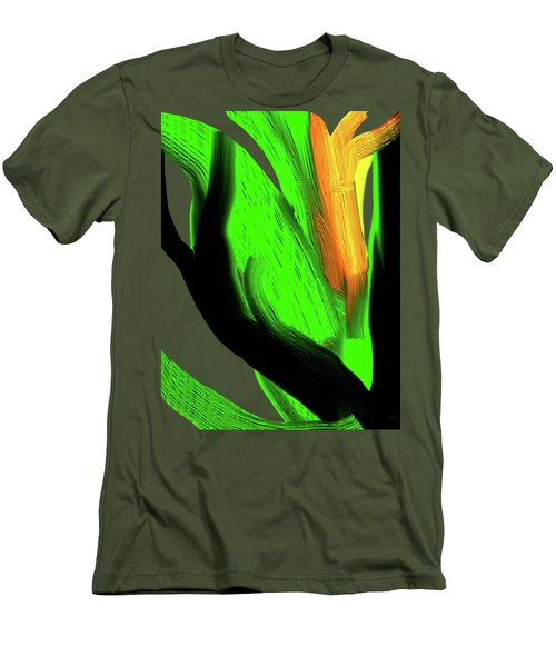 Men's T-Shirt (Slim Fit) featuring the digital art Succulents by Asok Mukhopadhyay