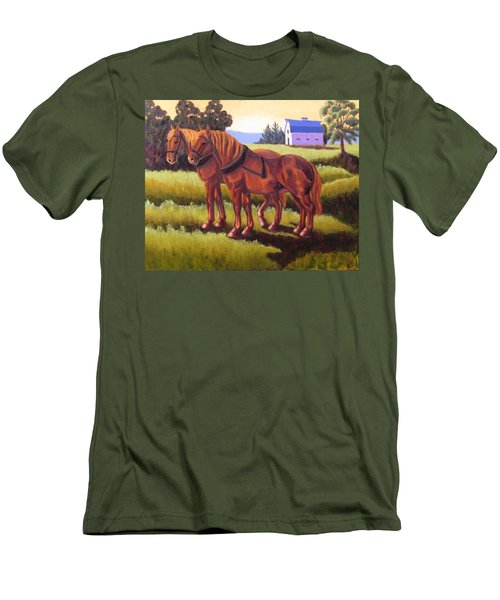 Suffolk Punch Day Is Done Men's T-Shirt (Athletic Fit)